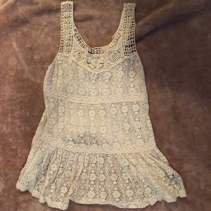 Forever 21 Cream Lace Summer Tank